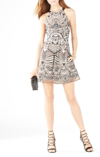 Cailyn Tribal Burnout Mesh Dress