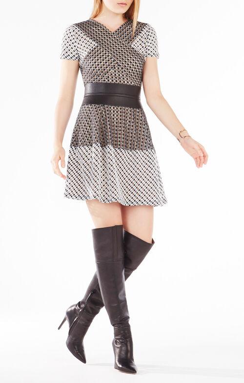 Elyze Lace-Blocked Dress