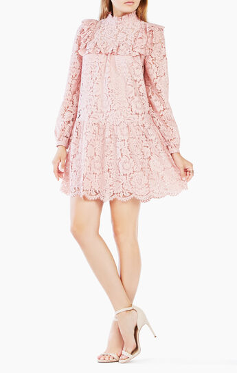 Leonara Lace-Blocked Dress