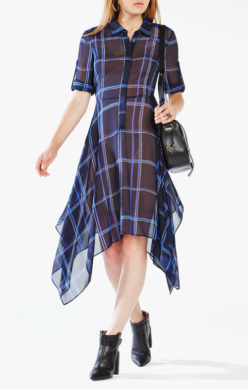Beatryce Plaid Silk Dress