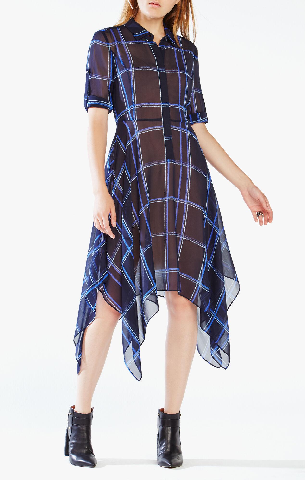 Beatryce Plaid Silk Dress