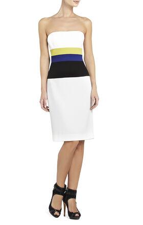 Reesie Strapless Color-Blocked Dress