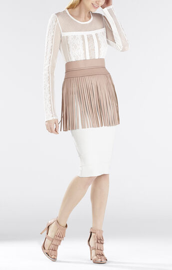 Addyson Lace-Blocked Long-Sleeve Shirt