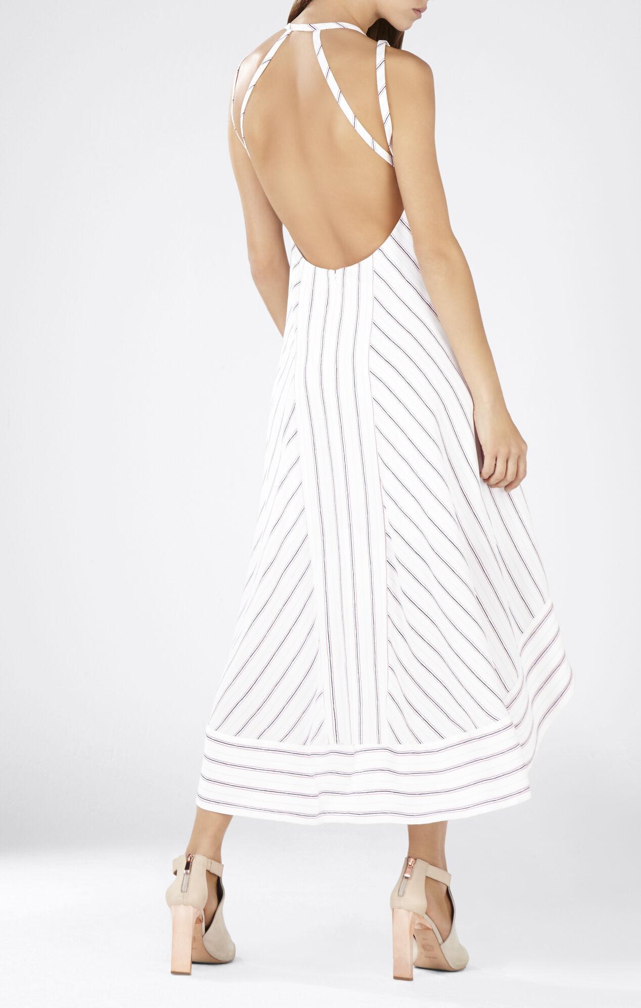 chelsi open back highlow dress