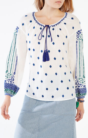 Quinn Embroidered Peasant Top