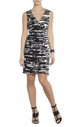 Beckie Sleeveless Faux-Wrap Dress