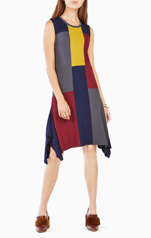 Katya Color-Blocked Sweater Dress