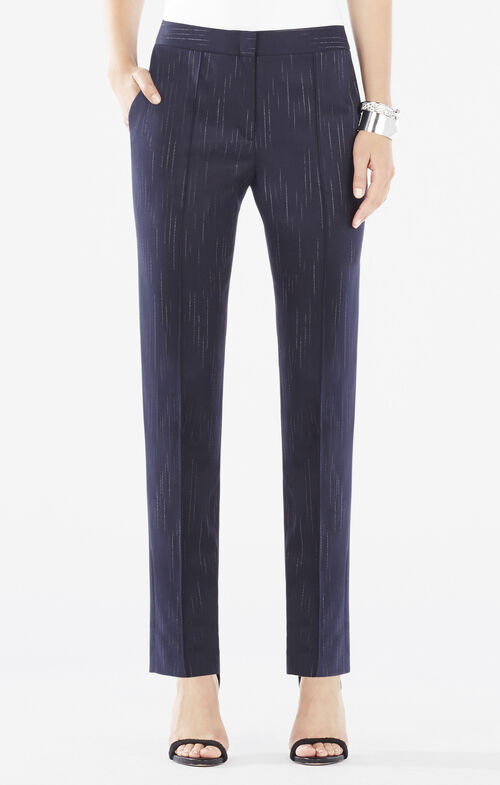 Elliot Faded Pinstripe Straight-Leg Trousers