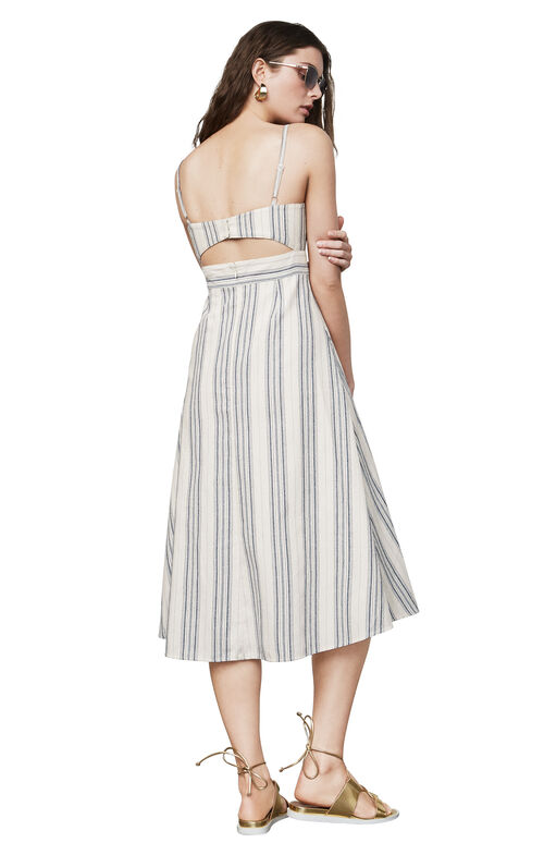 Karoline Striped Midi Dress