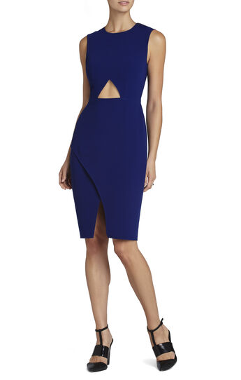 Tawny Sleeveless Cutout-Waist Dress