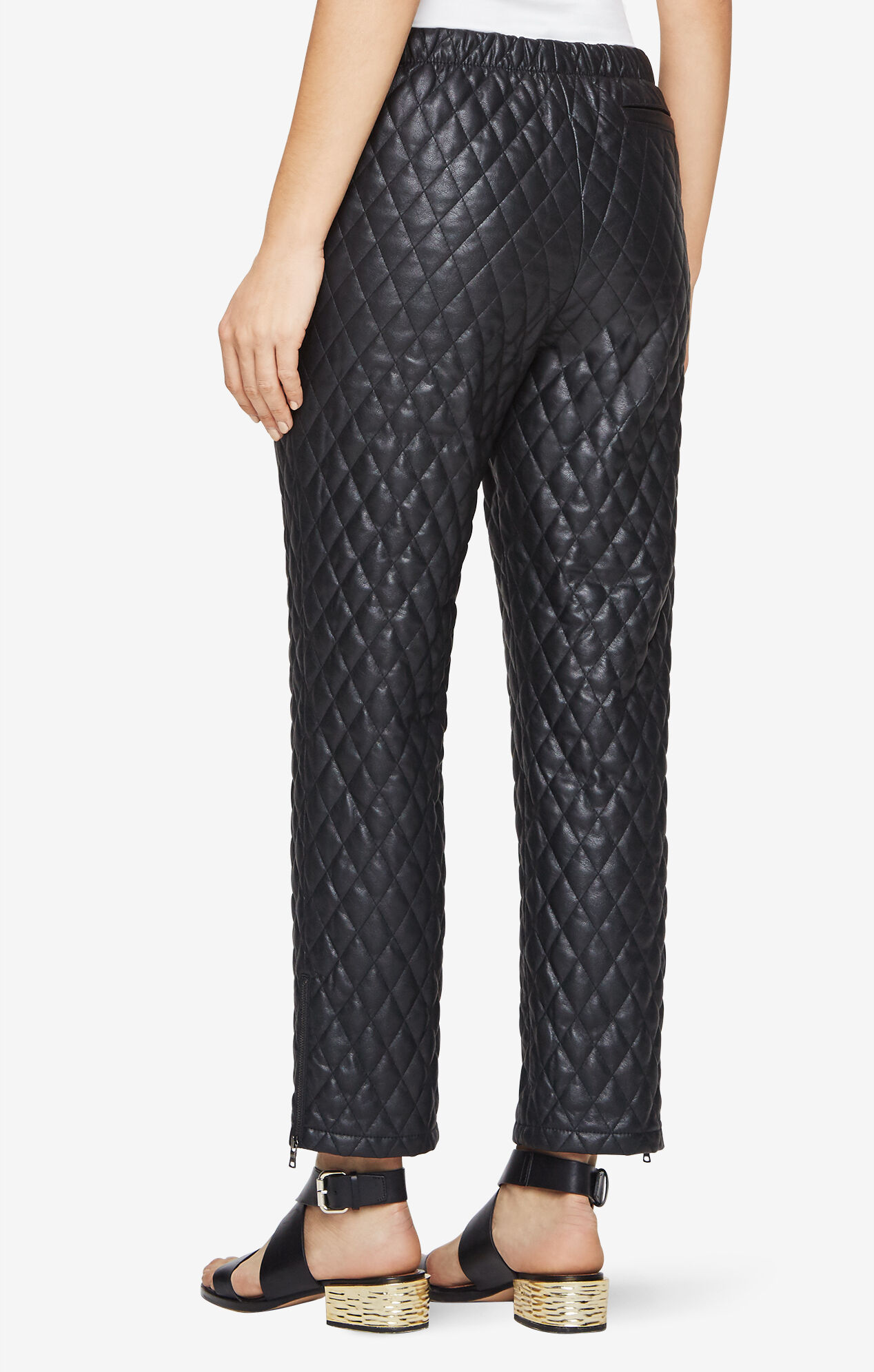 Lucien Quilted Faux-Leather Pants