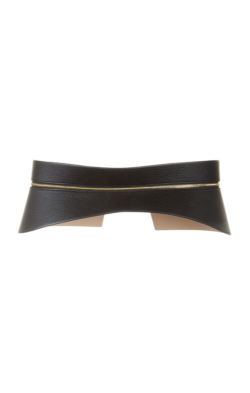 Peplum Zip Waist Belt