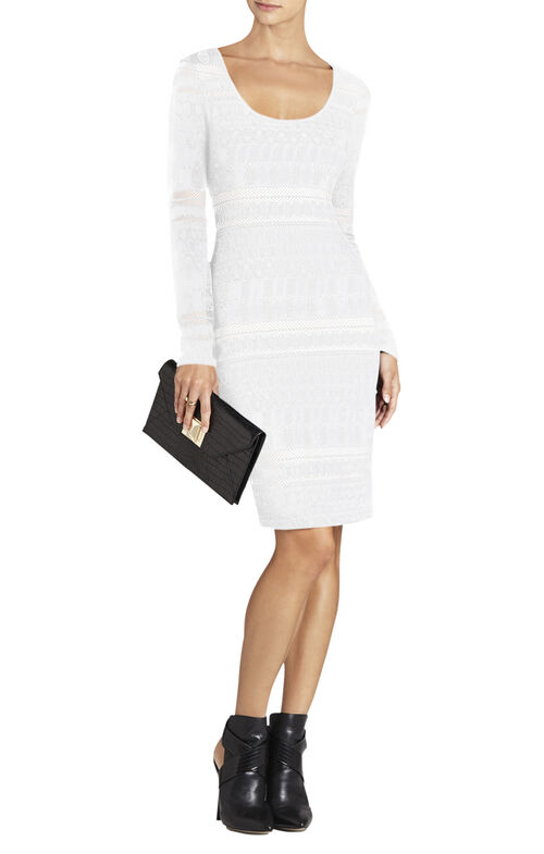 Tanya Long-Sleeve Lace Dress