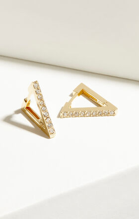 Triangle Huggie Hoop Earrings