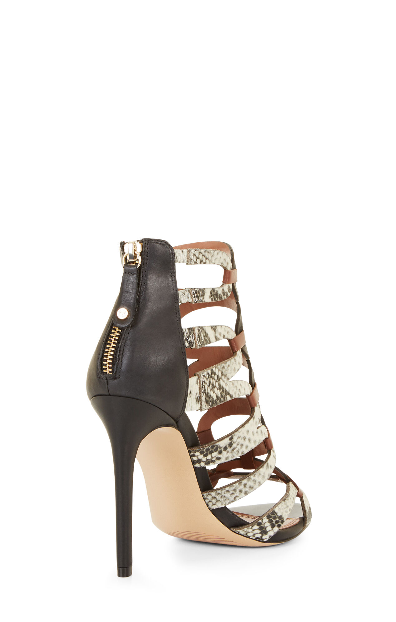 Valentia Python Leather Sandals