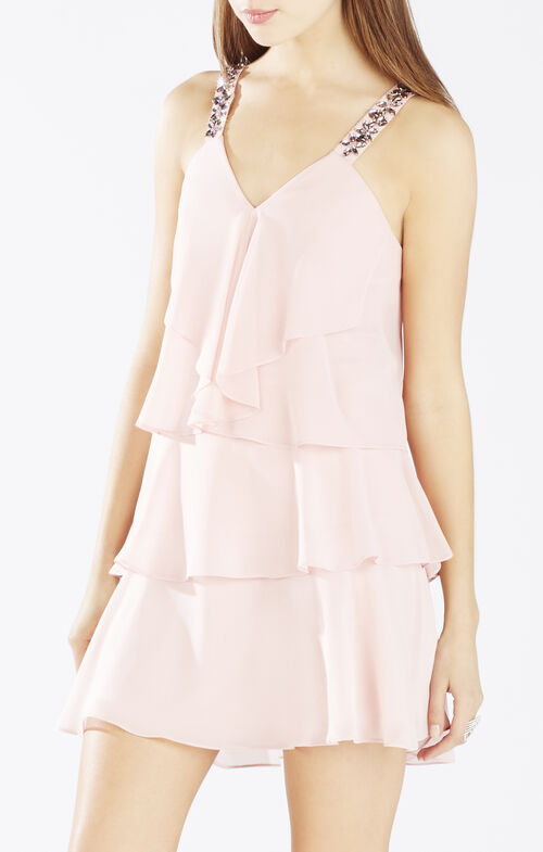 Carlotta Ruffle Halter Dress
