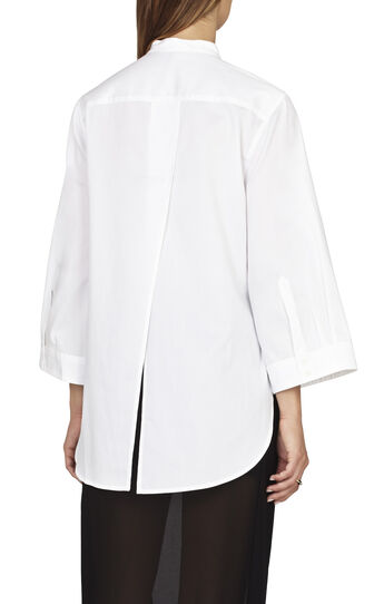 Joanne Relaxed-Fit Tuxedo Bib Shirt