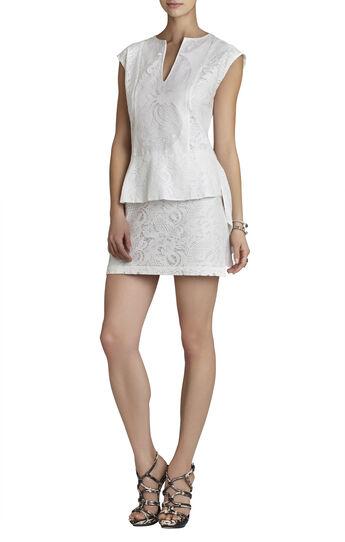 Isabel Draped-Side Peplum Dress