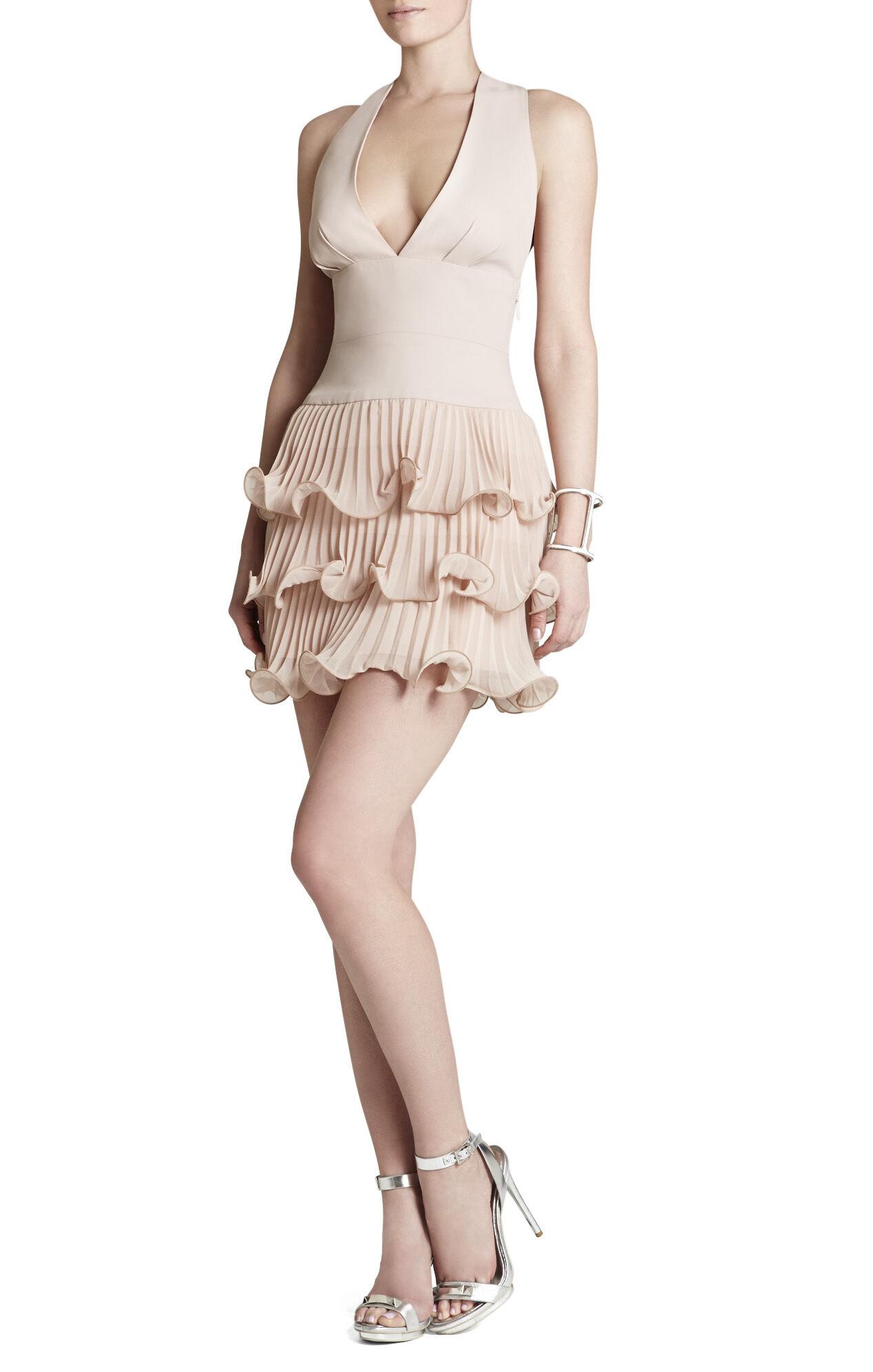 Priscilla V-Neck Three-Tiered Ruffle Dress