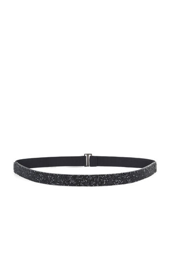 Crystal Rock Elasticized-Back Waist Belt