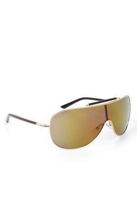 Mirrored Shield Aviator Sunglasses