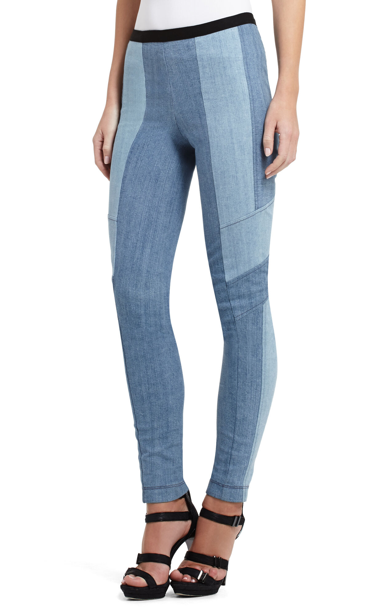 Cancetta Paneled Denim Legging