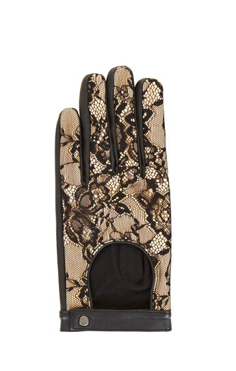 Leather and Lace Gloves