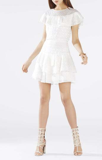 Charlete Ruffle Flounce Dress