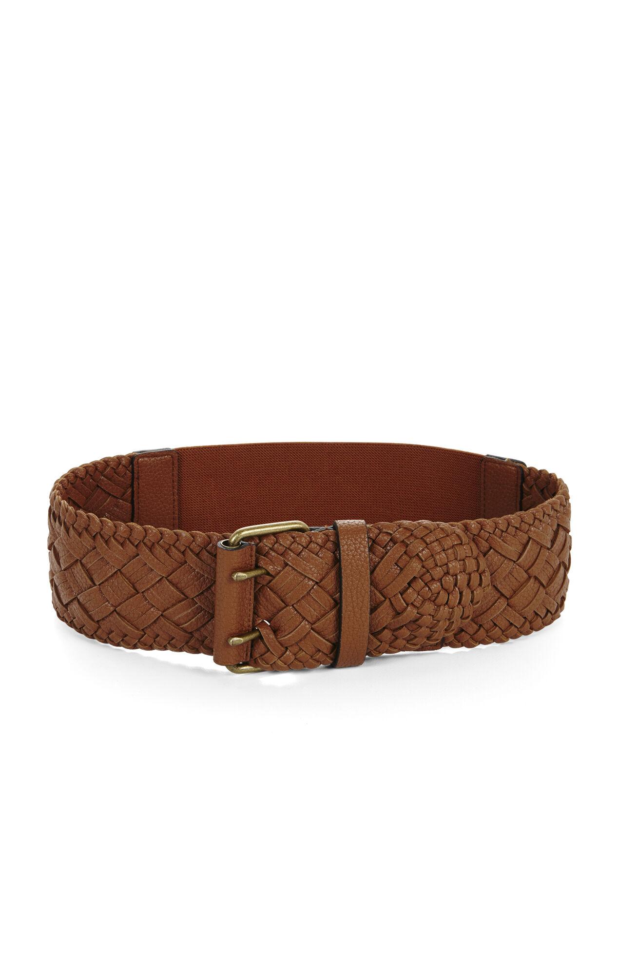 Braided Elastic-Back Waist Belt