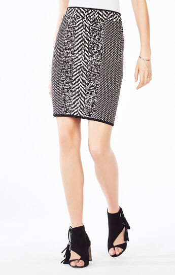 Kasi Twill Knit Jacquard Power Skirt