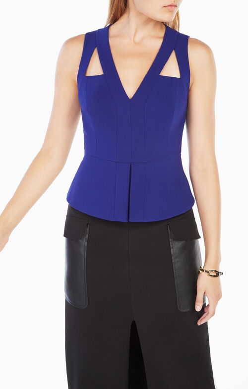 Hailee Cutout Peplum Top
