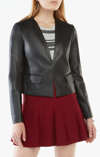Cruz Faux-Leather Blazer