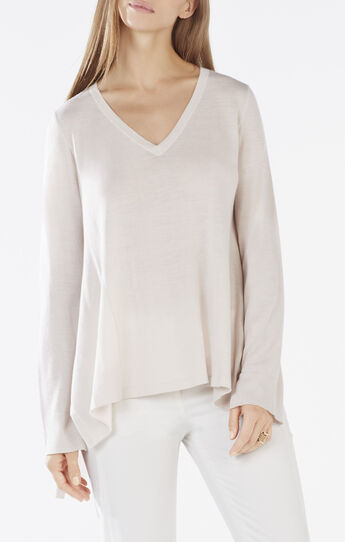 Marianne Long-Sleeve High-Low Sweater