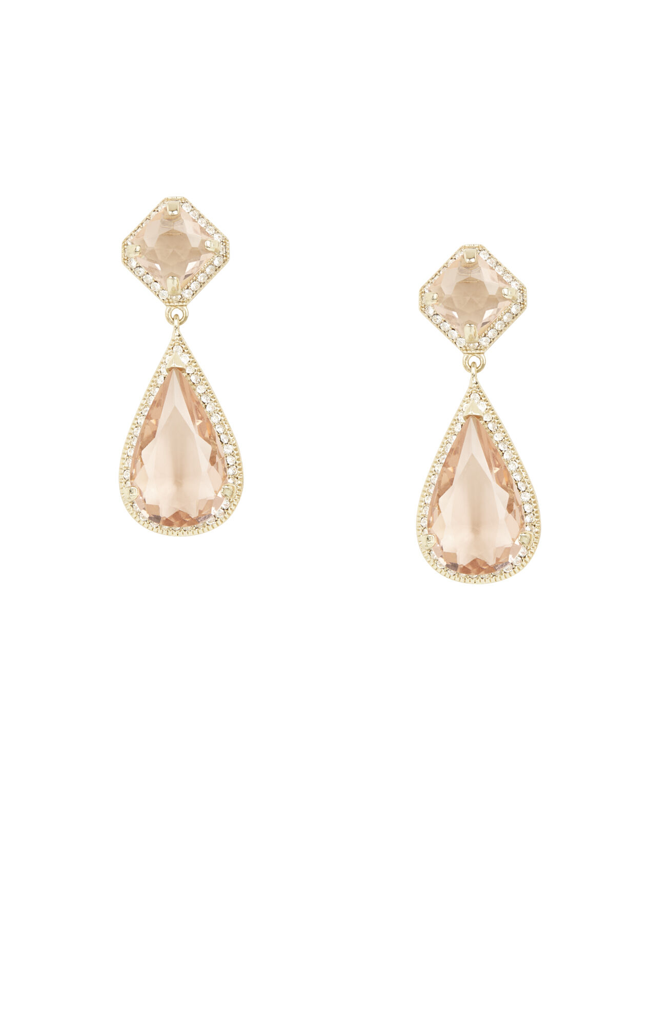 Pave Stone Earrings