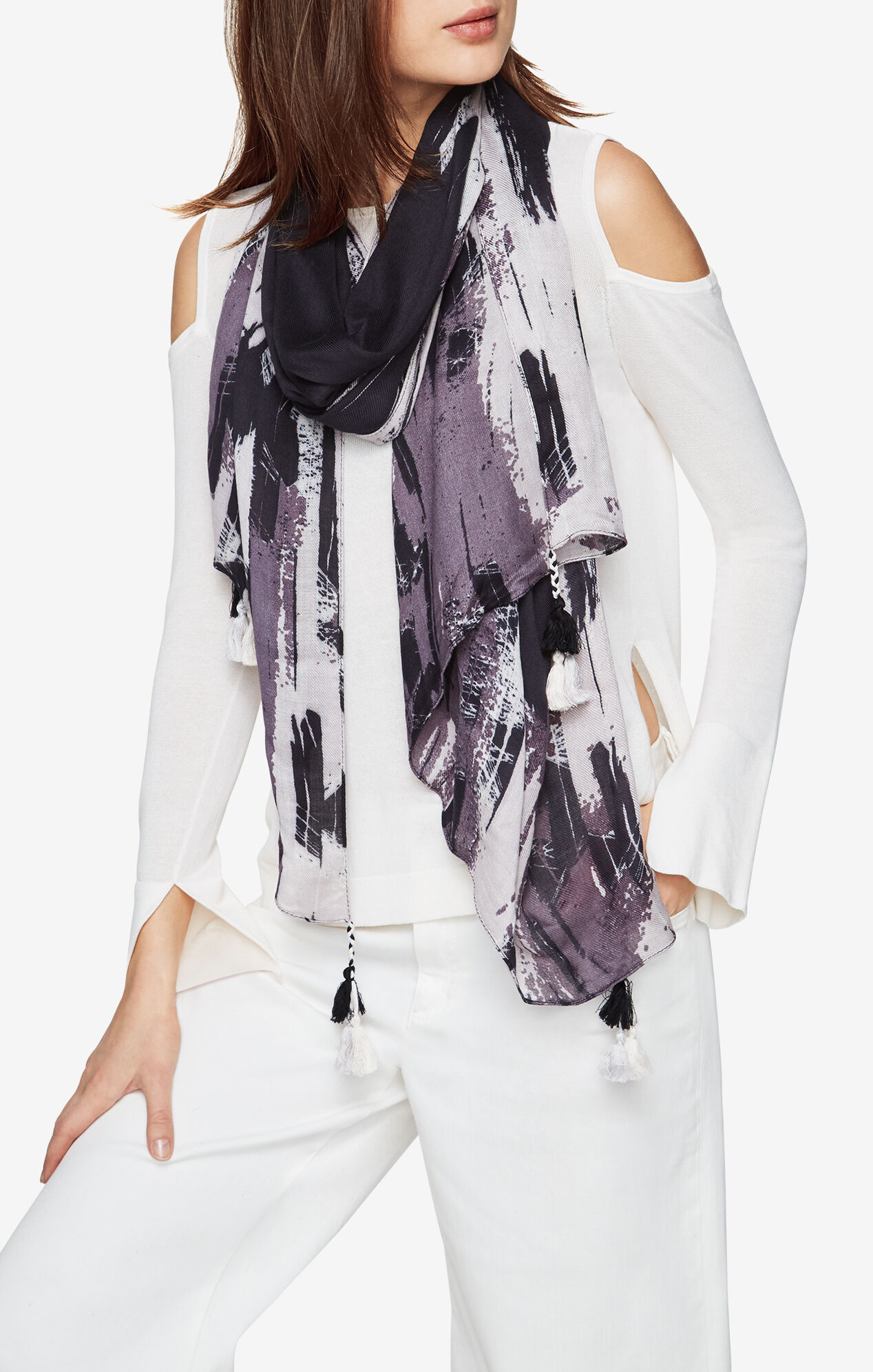 Printed Wrap Scarf