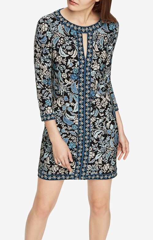 Calico Filigree Print Dress