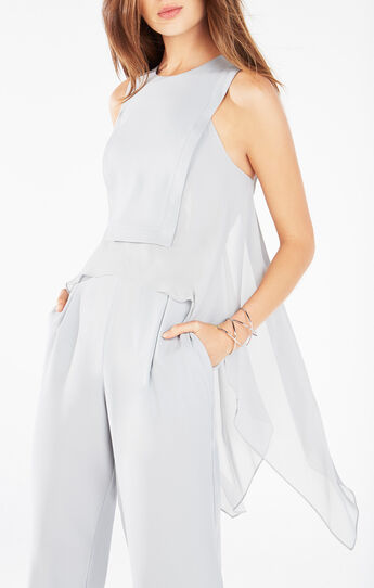 Lori Open-Back High-Low Jumpsuit