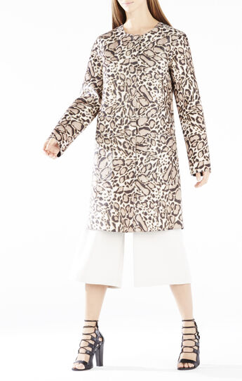 Mickie Spotted Ocelot Faux-Fur Coat