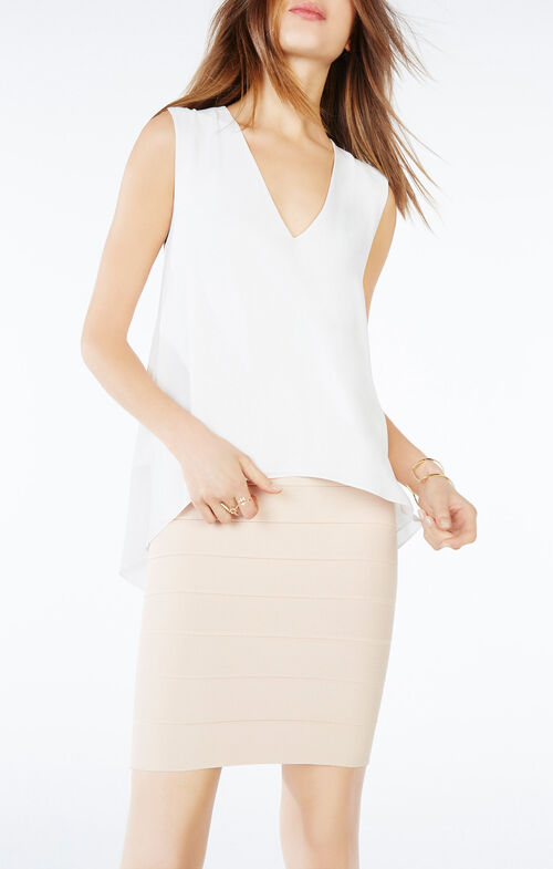 Eliza Sleeveless Cowl-Back Top