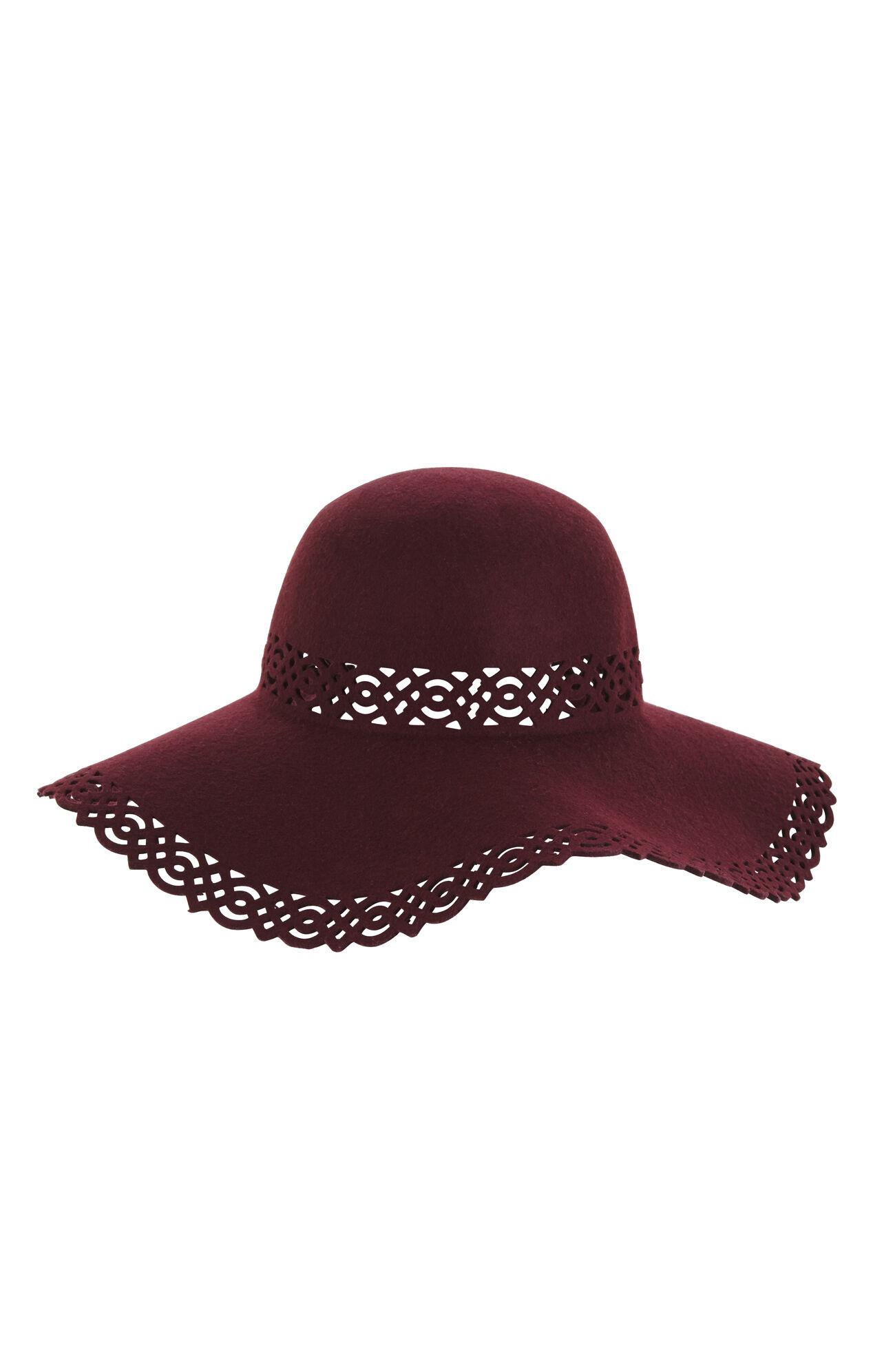 Laser-Cut Lace Floppy Hat
