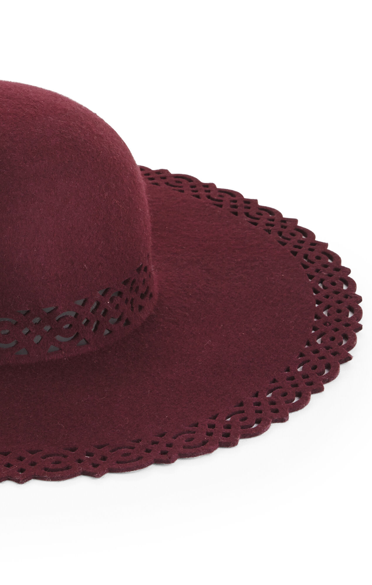 Laser-Cut Lace Floppy Hat