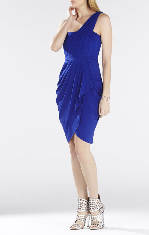 Julieta One-Shoulder Ruched Dress