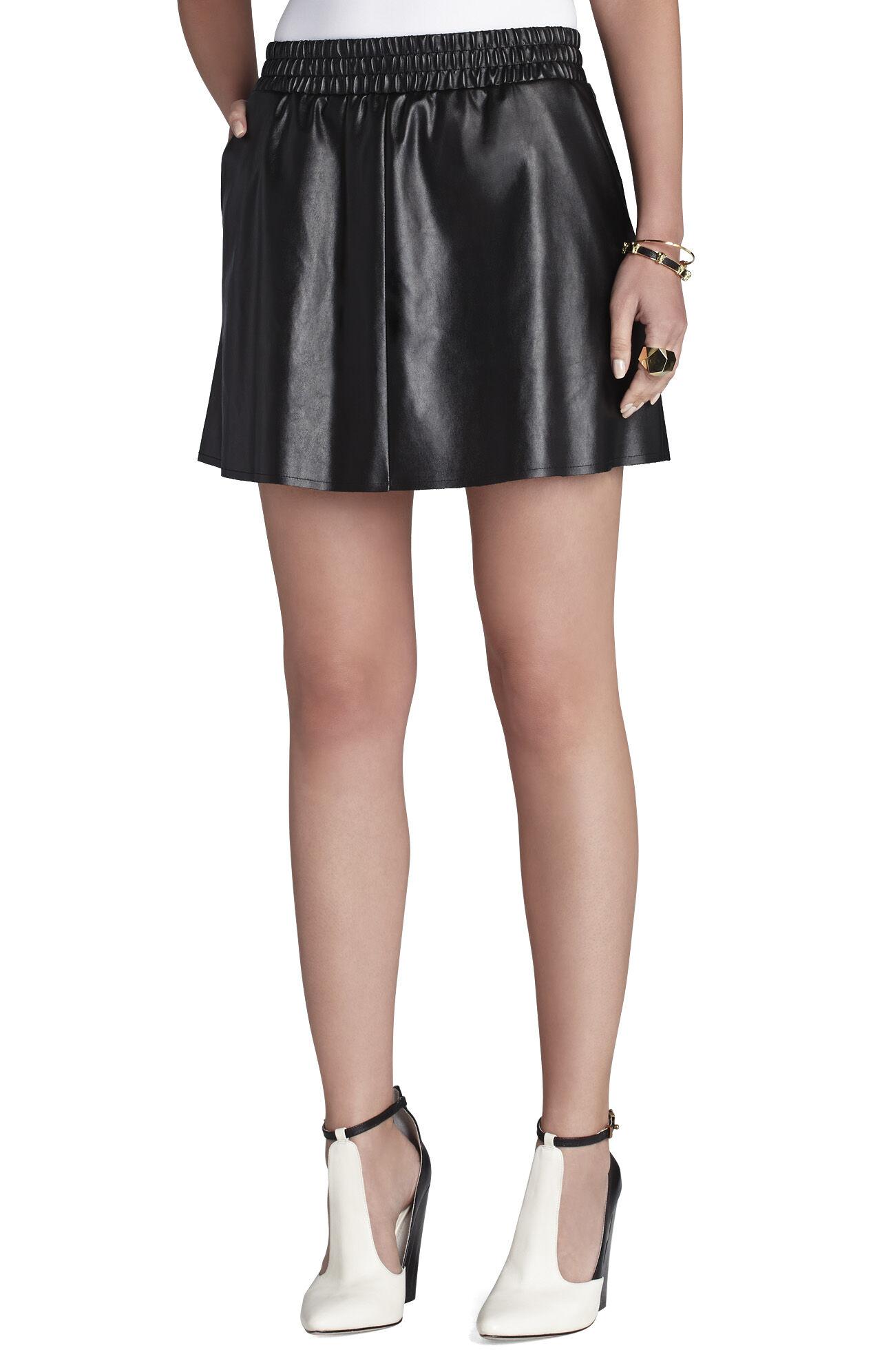 Laika Faux-Leather Miniskirt