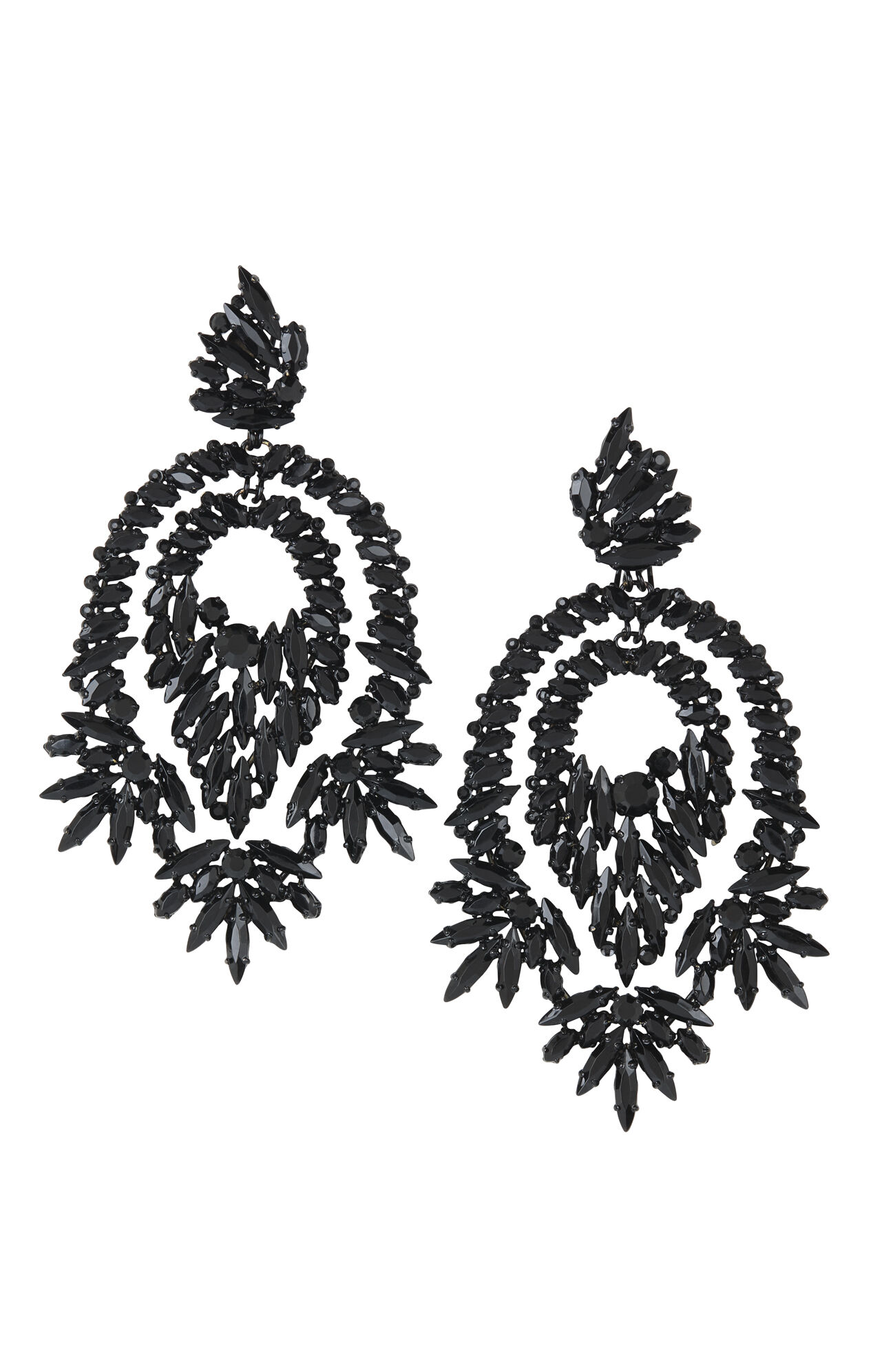Oversized Rhinestone Cocktail Earrings