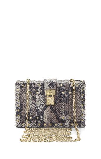 Daphne Python Faux-Leather Luggage Clutch