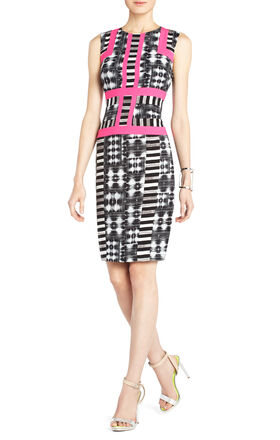 Elouise Print-Block Sheath Dress