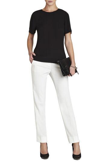 Elloyn Cutout-Back Short-Sleeve Top