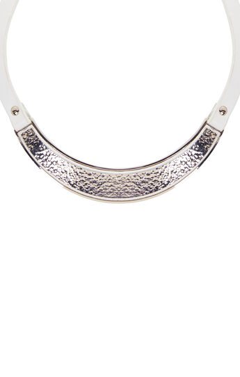 Hammered Metal Plate Necklace