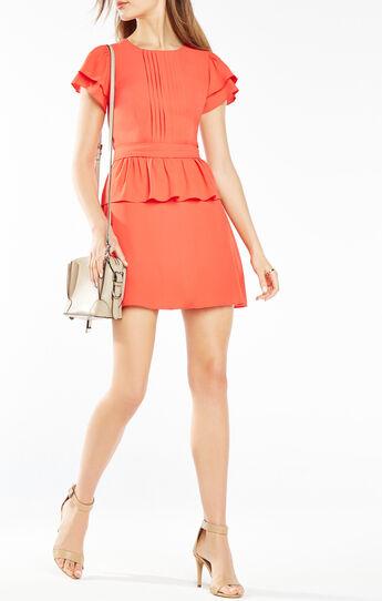 Idell Open-Back Peplum Dress