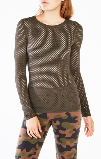 Leander Long-Sleeve Mesh Top